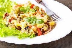 Tortilla con las verduras Imagen de archivo libre de regalías