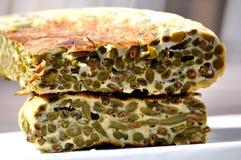 Tortilla de haricots verts Photos libres de droits