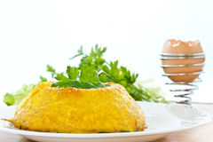 Tortilla de huevos cocida al horno Fotos de archivo