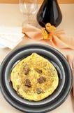 Tortilla de huevos con el eje de las trufas Fotografía de archivo libre de regalías