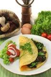 Tortilla de huevos de la seta Fotografía de archivo libre de regalías