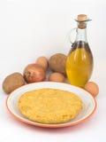 Tortilla de huevos de las patatas Foto de archivo