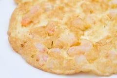 Tortilla de huevos de los mariscos Foto de archivo