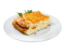 Tortilla de huevos del huevo frito Imagenes de archivo