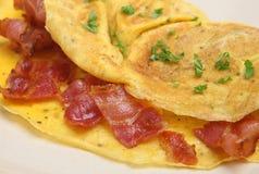 Tortilla de huevos del tocino Foto de archivo libre de regalías