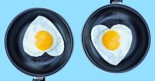 Tortilla de huevos doble del amor Fotografía de archivo libre de regalías