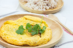 Tortilla de huevos tailandesa Imagen de archivo libre de regalías