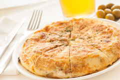 Tortilla de patatas Royalty Free Stock Photos