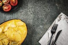 Tortilla de patatas Photos stock