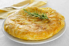 Tortilla de patatas, spanish omelet Royalty Free Stock Images