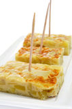 Tortilla de patatas, spanish potato omelete Royalty Free Stock Photos