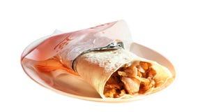 Tortilla de poulet Images libres de droits