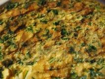 Tortilla del cilantro del perejil Foto de archivo