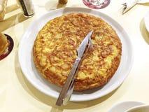 Tortilla española de los tapas especiales Fotos de archivo