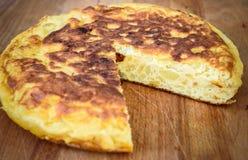 Tortilla espagnole, omelette espagnole tortilla de patata Photographie stock