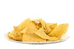 tortilla för paper platta för chiphavre mexikansk royaltyfria foton