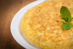 Fresh homemade Spanish tortilla (omelette) Stock Image