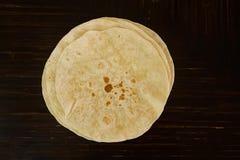 Tortilla flour for tacos or baleadas royalty free stock images