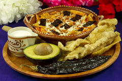 tortilla frontowy meksykański zupny widok Zdjęcie Royalty Free