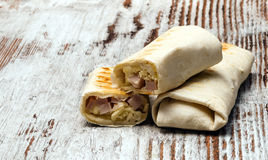 Tortilla with ham and cheese Royalty Free Stock Photo