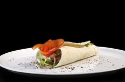 tortilla kebab Стоковая Фотография