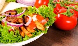 Tortilla meal Royalty Free Stock Photos