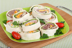 Tortilla Meat Wraps Royalty Free Stock Images