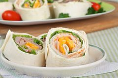 Tortilla Meat Wraps Royalty Free Stock Photos