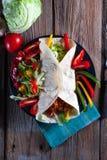 Tortilla med chili Arkivbild