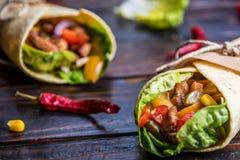 tortilla meksykański opakunek zdjęcia royalty free