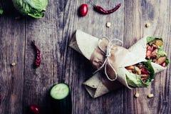 tortilla meksykański opakunek fotografia royalty free