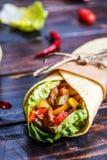 tortilla meksykański opakunek zdjęcie stock