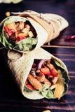 tortilla meksykański opakunek zdjęcia stock
