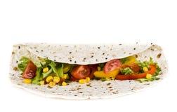 Tortilla met groenten Royalty-vrije Stock Afbeeldingen