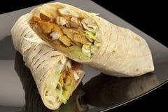 Tortilla met kip en groenten Stock Fotografie