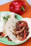 Tortilla met kippenvlees stock fotografie