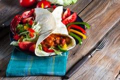 Tortilla met Spaanse peper Royalty-vrije Stock Afbeeldingen