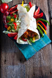 Tortilla met Spaanse peper Stock Foto