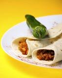 Tortilla mexicaine avec du boeuf photographie stock libre de droits