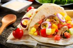 Tortilla mexicana imagenes de archivo