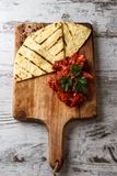 Tortilla Mexico on a wooden cutting stock images