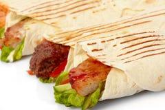 Tortilla mit Gemüse Lizenzfreies Stockfoto