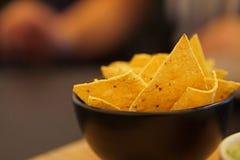 Tortilla Nacho Chips - MEXICANSK MAT arkivfoto