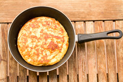 Tortilla in pan Stock Image