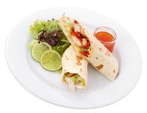 Tortilla Plate Stock Image