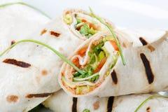tortilla rżnięty przyrodni opakunek fotografia royalty free