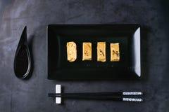 Tortilla rodada japonés Tamagoyaki Fotografía de archivo