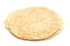 Tortilla's in een stapel royalty-vrije stock fotografie