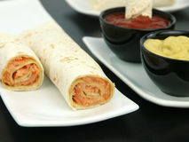 Tortilla with salmon Stock Image