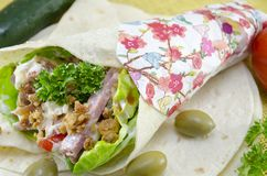 Tortilla sandwich Stock Photo